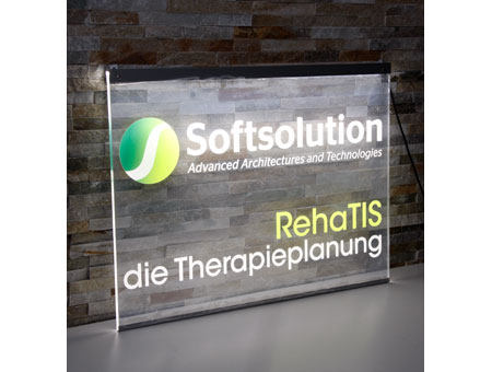 LED-Leuchtschild Softsolution