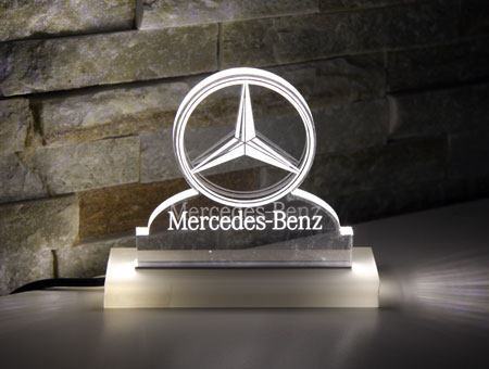 LED-Tischaufsteller Mercedes